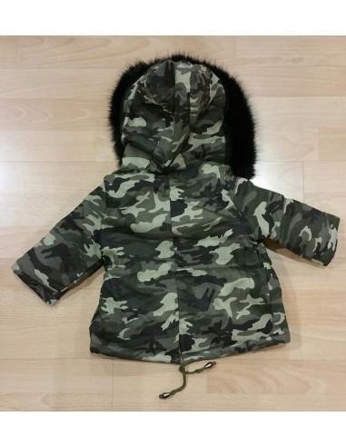 Parka Militaire Fourrure Noire Baby