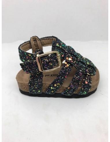 Sandale Noire Paillette 19 au 36