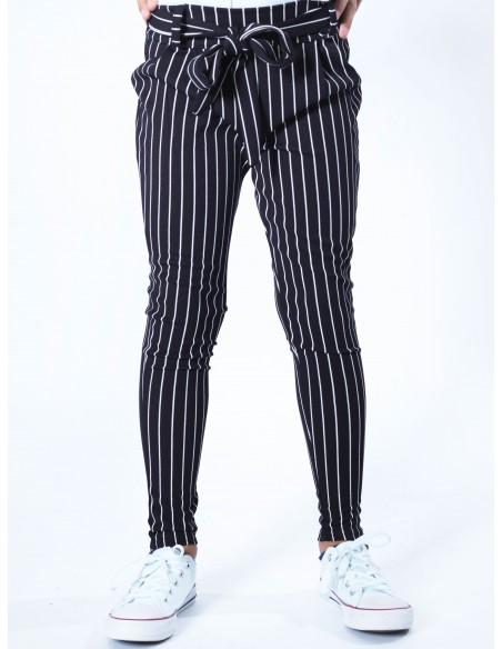 Pantalon rayure ceinture