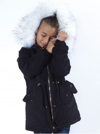 parka noir fourrure noire garcon 2 a 14 ans mode parka fashion. Black Bedroom Furniture Sets. Home Design Ideas