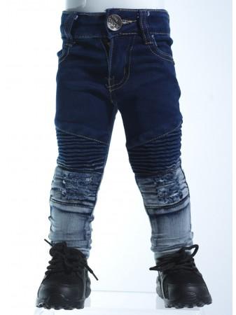 Jeans biker bicolore BLEU 18018 Baby