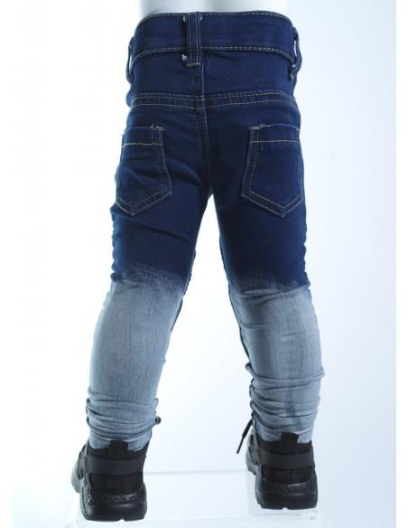 Jeans biker bicolore 18018 Baby
