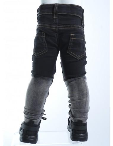 Jeans biker bicolore NOIR 18018 Baby