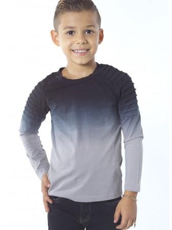 Tshirt bicolore dégradé BLEU G013 Enfant