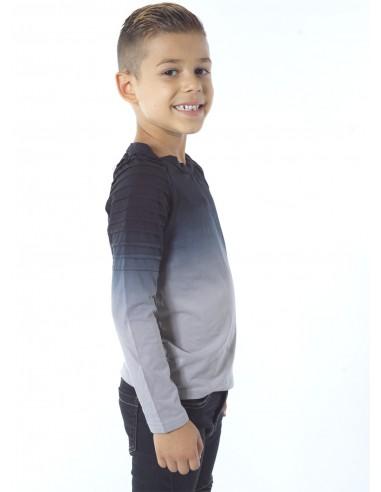 Tshirt bicolore dégradé BLEU Enfant