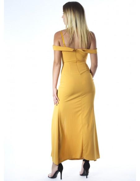 Robe longue MOUTARDE 22003 Femme