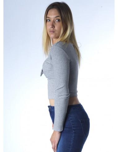 Top noeud M/L GRIS 2307 Femme