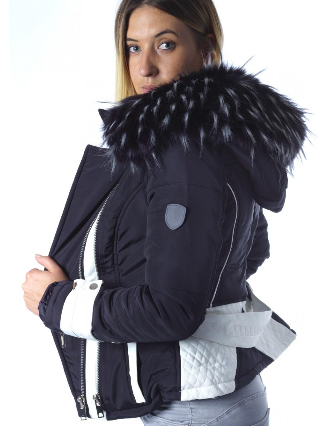 designer fashion great fit usa cheap sale Veste Fourrure capuche NOIRE WS970 Femme-www.zerda-boutique ...