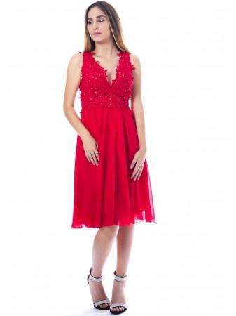 Robe courte mariée ROUGE 8633 Femme