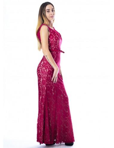 Robe charme BORDEAU 9133 Femme