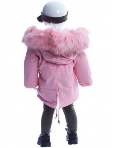 Parka fourrure perle ROSE BM013 Baby Fille