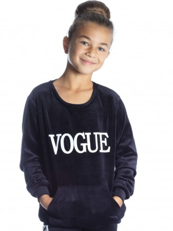 Ensemble Vogue velour NOIR F244 Fille 4 à 14 ans