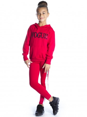 Ensemble Vogue Capuche ROUGE F209 Fille 4 à 14 ans