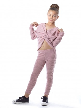 Ensemble Torsadé 7019 Rose 4 au 14 ans