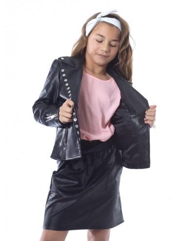 Veste perfecto clouté V915 Noir Fille 4 à 14 ans