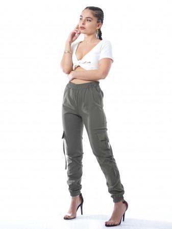 Crop top uni 20394 Blanc Femme