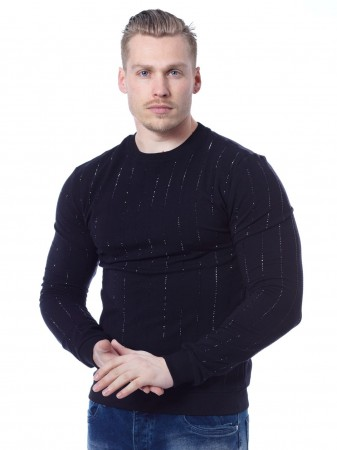 Sweat strass JB18059 Noir Homme