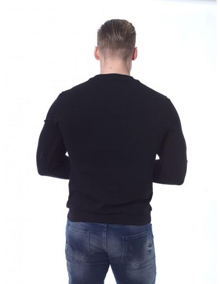 Sweat strass JB18059 Noir Homme
