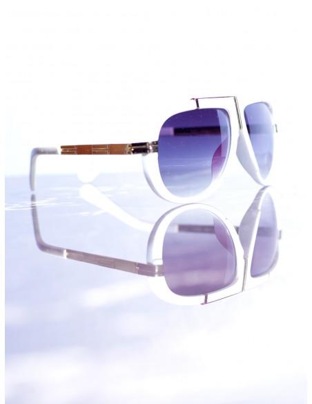 Lunettes de soleil Blanc/Violet Homme