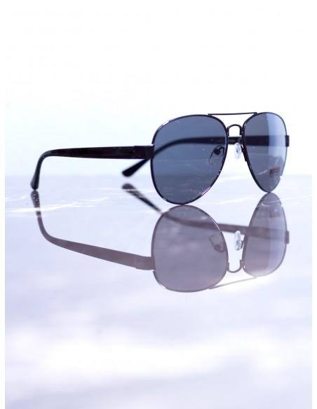 Lunettes de soleil aviateur Noir/Noir Homme