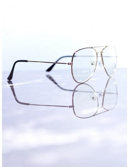 Lunettes de soleil aviateur Or/Transparent Mixte