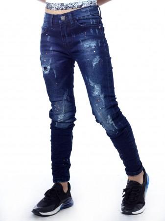 Jeans troué SN808 Bleu Garçon 4 à 14 ans