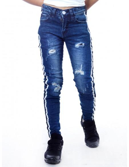 Jeans bande SN810 Bleu Garçon 4 à 14 ans
