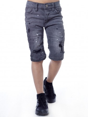 Short Jeans Noir Garçon 4 à 14 ans