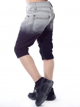 Short jeans bicolore SN808 Noir Gaçon 4 à 14 ans