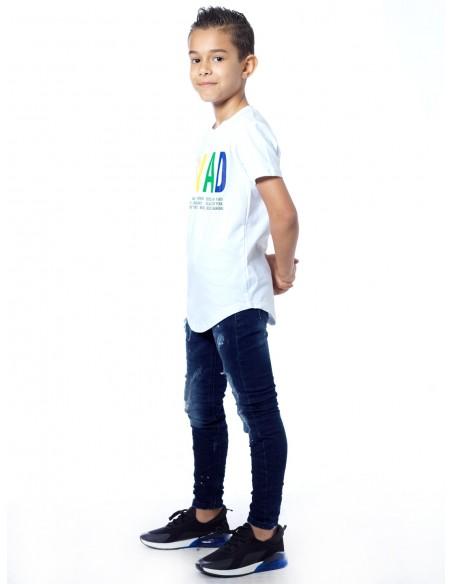 T-shirt SQUAD P-64 Blanc Garçon 4 à 14 ans