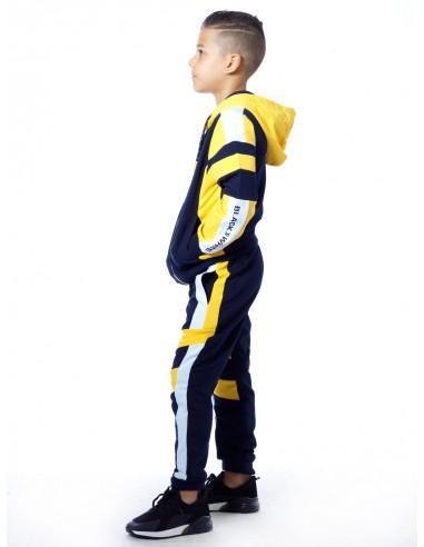 Ensemble jogging bicolore SHY Jaune Garçon 4 à 14 ans