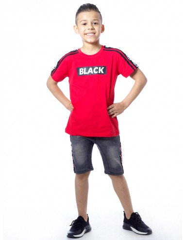 T-shirt BLACK P66 Rouge Garçon4 à 14 ans