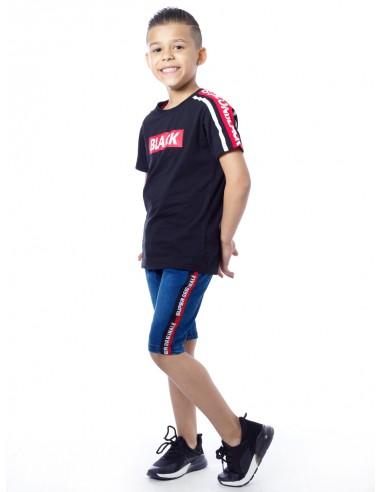 T-shirt BLACK P66 Noir Garçon4 à 14 ans