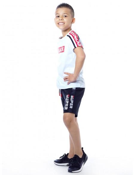 T-shirt BLACK P66 Blanc Garçon 4 à 14 ans