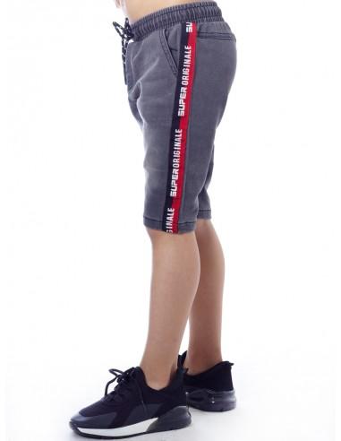 Short jeans T01 Gris Garçon 4 à 14 ans
