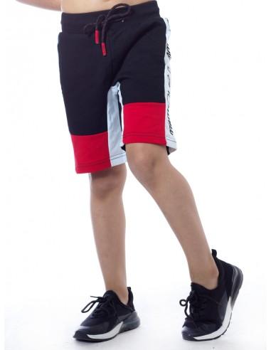 Short bicolore SHY 1014 Noir Garçon 4 à 14 ans