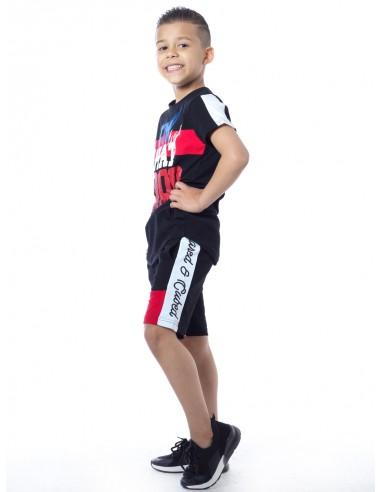 T-shirt GOOD H01 Noir Garçon 4 à 14 ans