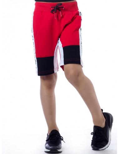 Short bicolore SHY 1014 Rouge Garçon 4 à 14 ans
