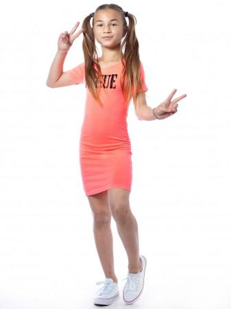 Robe Fluo VOGUE Orange Fille 2 à 14 ans