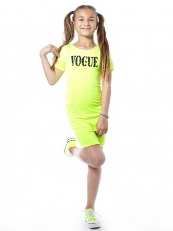Robe Fluo VOGUE Jaune Fille 2 à 14 ans