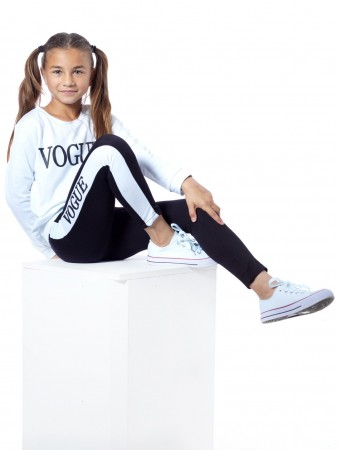 Ensemble VOGUE F016 Blanc Fille 4 à 14 ans