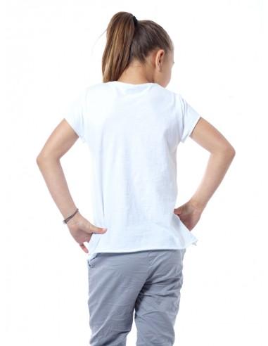 T-shirt imprimé 10564 Blanc Fille 4 à 14 ans