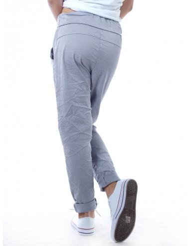 Pantalon déchiré 5077 Gris Fille 4 à 14 ans