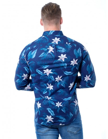 Chemise Fleurs 5478/5 Bleu Homme