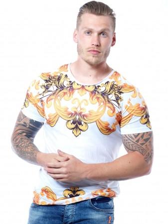 JOHN H - T-shirt TSM06 Blanc Homme