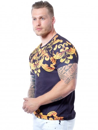 JOHN H - T-shirt TSM06 Noir Homme