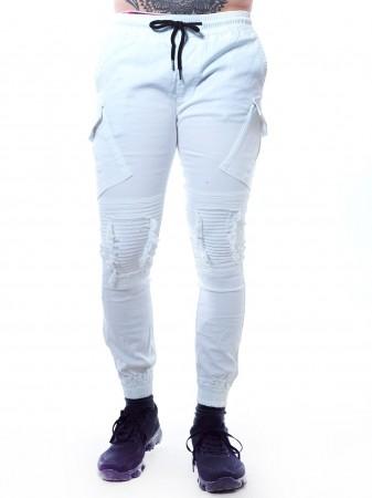 JOHN H - Jeans 7618 Blanc Homme