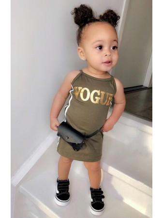 Robe VOGUE Kaki 6 au 36 mois Bébé FILLE