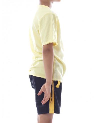 T-shirt Lain Jaune Garçon 4 à 14 ans