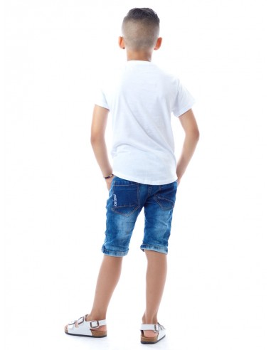 T-shirt tête de mort Blanc Garçon 4 à 14 ans